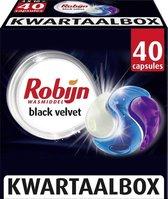 Robijn Black Velvet 3 in 1 Wascapsules - 40 wasbeurten - Kwartaalbox