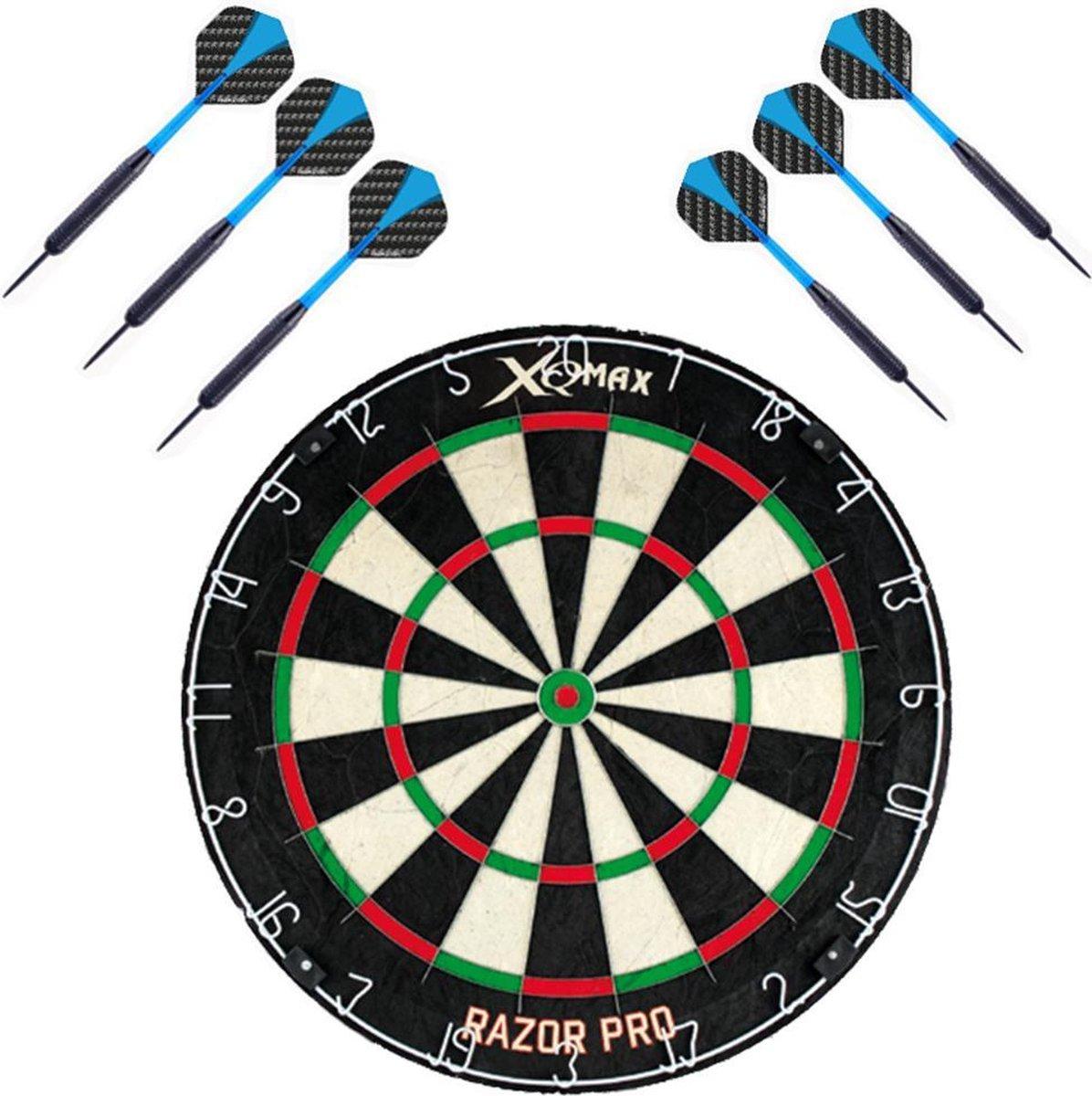 XQ-Max Razor PRO - darbord - inclusief - 2 sets - dartpijlen