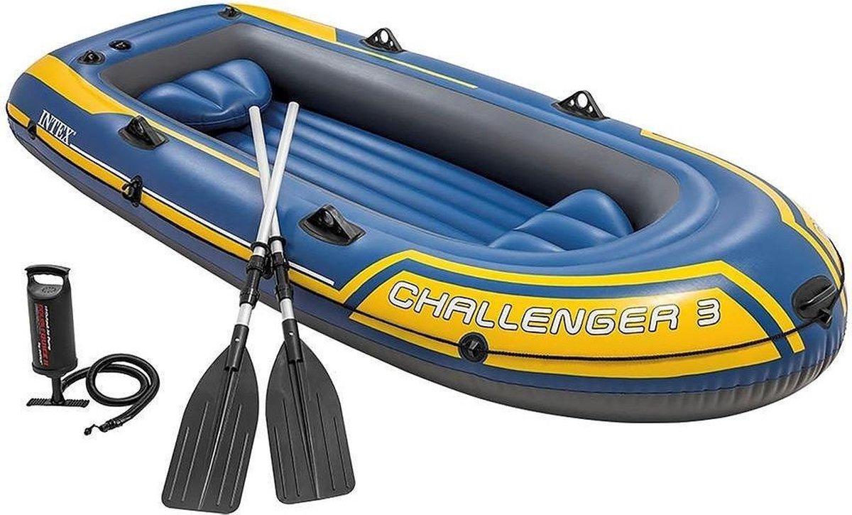 Intex Challenger 3 Opblaasboot - 3-Persoons - Blauw/Geel