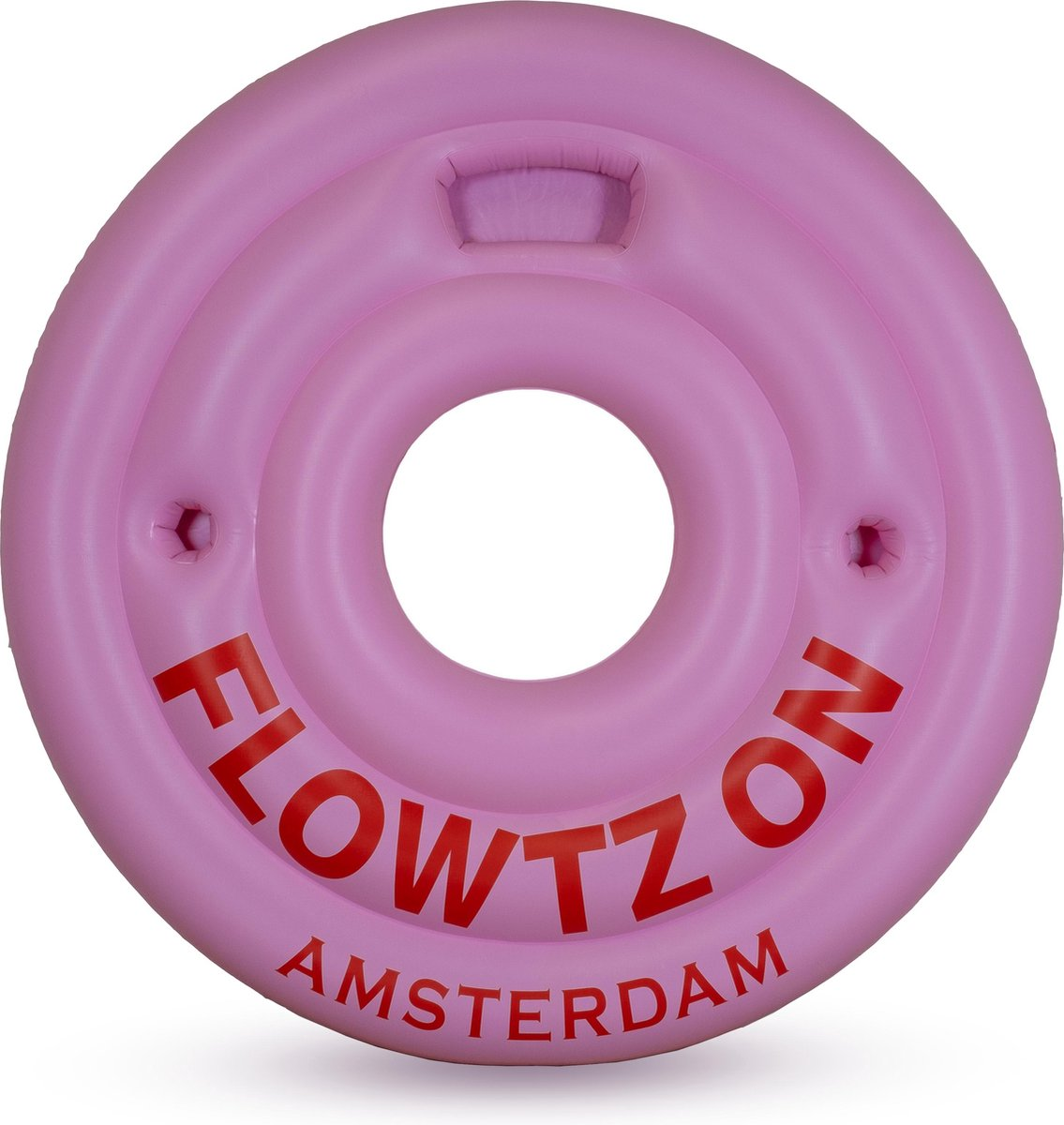 Flowtz On - Zwemband - Opblaasband - Roze - Pool float - 180 cm - Bekerhouder - Fun - Groot - Pool float - Zomer - Strand - Zwembad