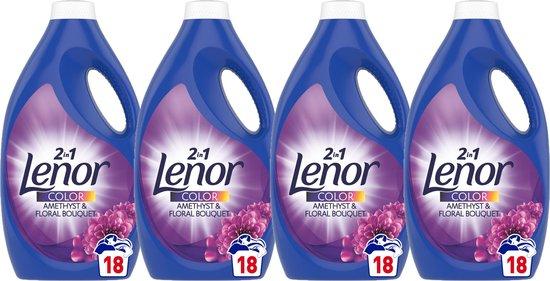 Lenor - Vloeibaar Wasmiddel - Amethist & Bloemen boeket - 4 x 990 ML (72 wasbeurten) - Voordeelverpakking