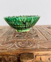 Tamegroute kom| Groen | Marokkaanse Aardewerk  | Diameter 20