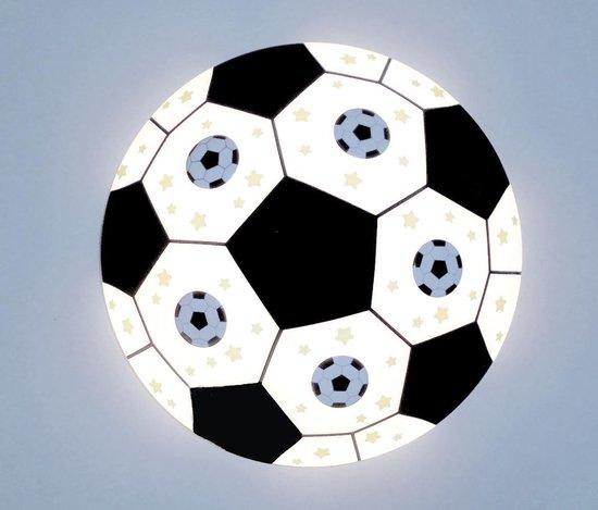 Funnylight Design 36 cm voetbal plafonniere met metalen voetballen en glow in the dark sterren voor de kids slaap kamer