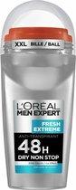 L'Oréal Paris Men Expert Fresh Extreme - Voordeelverpakking 6 x 50ml - Deodorant Roller