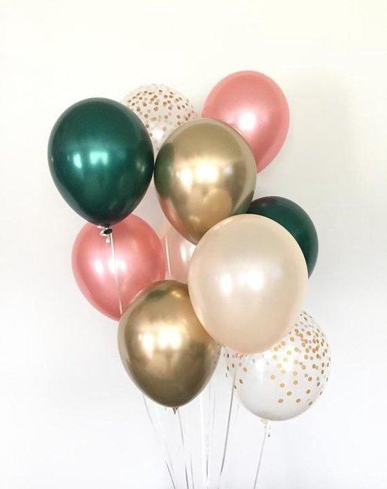 Huwelijk / Bruiloft - Geboorte - Verjaardag ballonnen | Rose Goud - Groen - Goud - Off-White / Wit - Transparant - Polkadot Dots | Baby Shower - Kraamfeest - Fotoshoot - Wedding - Birthday - Party - Feest - Huwelijk | Decoratie | DH collection