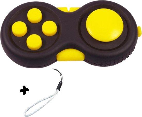 Fidget Pad anti stres speelgoed - Fidget toys - Pop it Fidget Toy - Fidget Cube - Tiktok - Fidget Speelgoed - Cadeau - Stresbal - Meisjes speelgoed - Jongens speelgoed - Geel