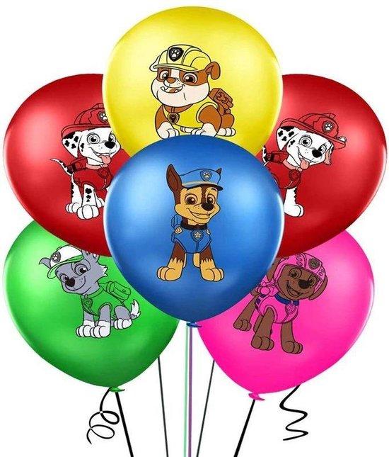 Paw Patrol ballonnen Set 10 stuks - latex - Feestpakket Verjaardag Versiering