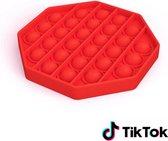 Fidget Toy Pop it / Stress Pop'n Play  ROOD  hexagon (achthoek)