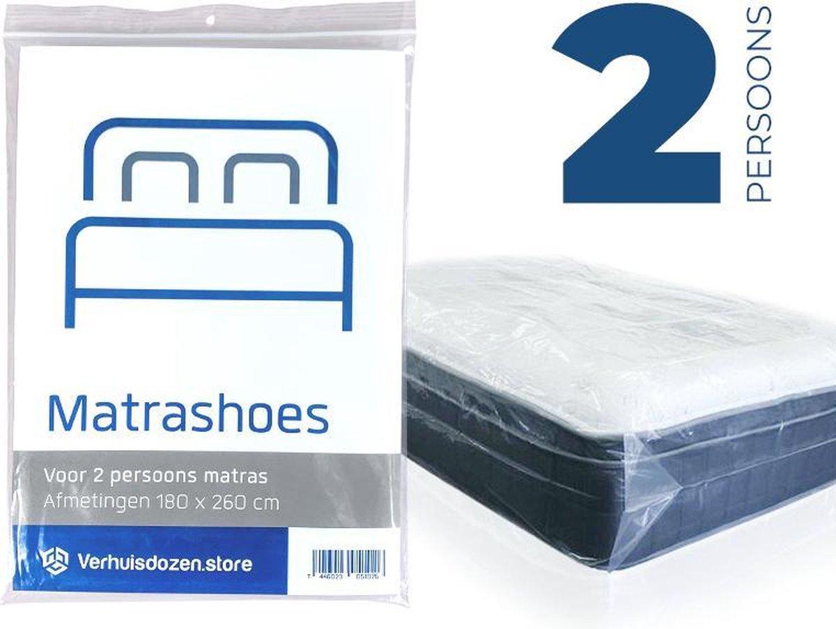 Matrashoes - Matrasbeschermer - Watervast - Tweepersoons - 260x180cm - Verhuizen - Opslag