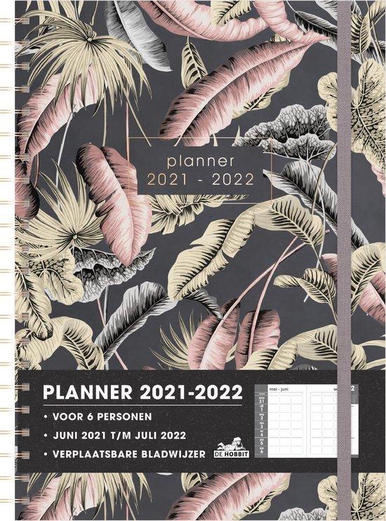 Afbeelding van Hobbit - Gezinsplanners 6 pers. - Bladeren - 2021 / 2022 - week op 2 paginas - A4 - Ringband