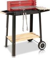 MaxxGarden Houtskool Barbecue - Grilloppervlak (LxB) 53 x 28cm- extra set accessoires
