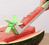 Meloensnijder - Windmolen Meloen Snijder - RVS Watermeloen Snijder - Snijmessen Fruit Groente - Keukenaccessoires