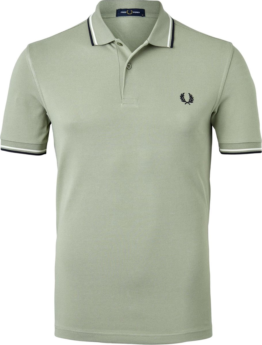 Fred Perry M3600 polo twin tipped shirt - Seagrass -  Maat: 3XL