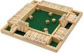 Shut The Box - 4 Spelers - Dobbelspel - Inclusief dobbelstenen - Hout - Kansspel - Bordspel - Kansspel - Reisspel - Drankspel - Daily Playground