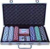 Pokerset koffer aluminium 300 chips