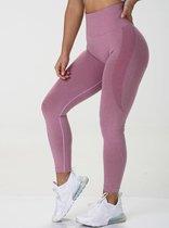 Sportlegging dames shape - Squat proof - Flex - contour & high waist - roze