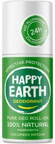 Happy Earth Pure Deodorant Roll-On Cucumber Matcha 75 ml - 100% natuurlijk