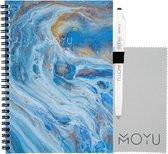MOYU Ringband A5 (2.0) | Beyond Blue | Uitwisbaar & Herschrijfbaar Notitieboek