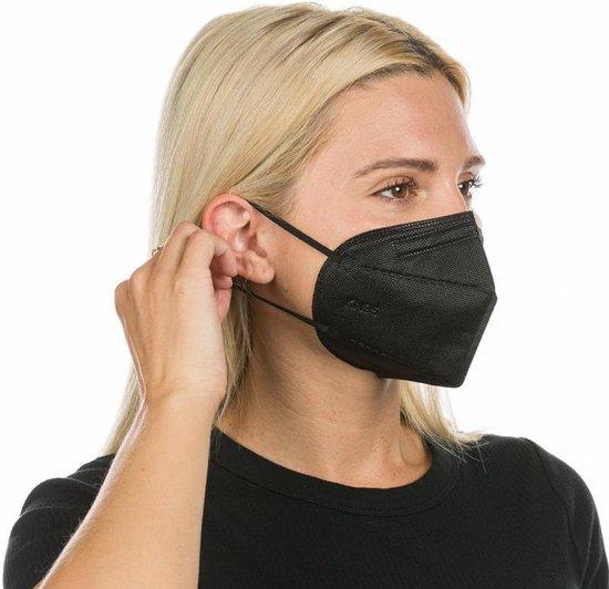 An Phu | Zwart Mondkapje FFP2(KN95) Medische mondkapjes- Medische mondmasker| 5 stuks | EN149:2001:2001 Gecertificeerd