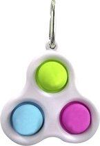 Simple Dimple Triple | fidget toys | pop it | Wit diverse kleuren.