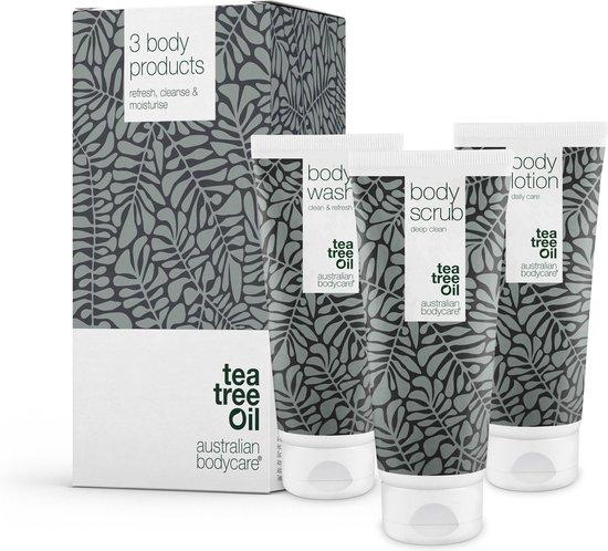 Australian Bodycare Body Treatment | 3 producten tegen puistjes, een onzuivere huid en mee–eters op de rug en billen | Met het actieve ingrediënt Tea Tree olie, die bacteriën effectief bestrijdt