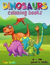 Dinosaur coloring books for kids 4 - 10 years old