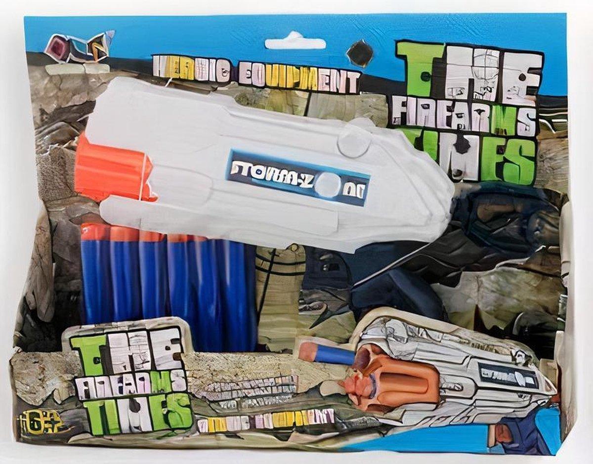Jonotoys Schietpistool Soft Gun Junior Foam Wit