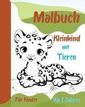 Malbuch Kleinkind mit Tieren