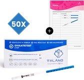 Telano Ovulatietesten Vroeg 50 testen Dipstick - Gratis Ovulatiekalender - Ovulatietest strip
