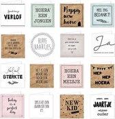 Wenskaarten dubbel set - 15 kaarten met enveloppen - Verjaardag - Geboorte - Bedankt - Sterkte - Verlof - Huwelijk
