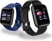 DrPhone - KidzOne Advanced X - Smartwatch voor Kinderen - Stappenteller - Hartslagmeter Nederlandstalige App - Zwart