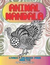 Livres a colorier pour adultes - Gros caracteres - Animal Mandala