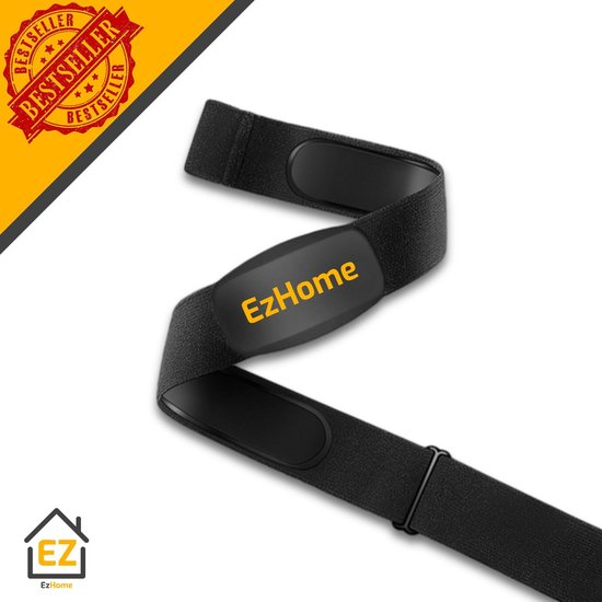 EzHome Hartslagmeter - Hartslagmeter met Borstband - Hartslagband - Bluetooth...