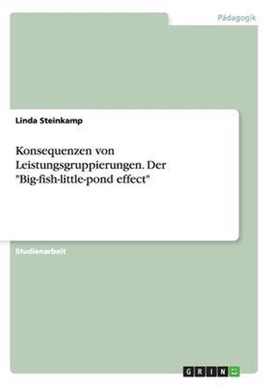 Konsequenzen von Leistungsgruppierungen. Der  Big-fish-little-pond effect