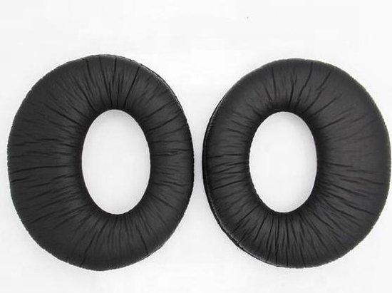 Luxe Lederen Oorkussen Set Voor Sony MDR-RF985RK RF985R RF970RK RF970R RF960RK RF960R RF925RK  - Vervangende Koptelefoon Earpads - Oor Kussens - Ear Pads - Oorkussens Met Noise Cancelling Memory Foam Binnenlaag - Zwart