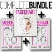 FACECHART The Book - Makeup boek - Beauty boek - Face chart -Komplete bundel - Engelstalig