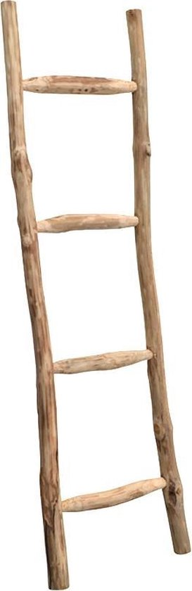 Brix | Larry | houten ladder | teakhout | 180 cm hoog
