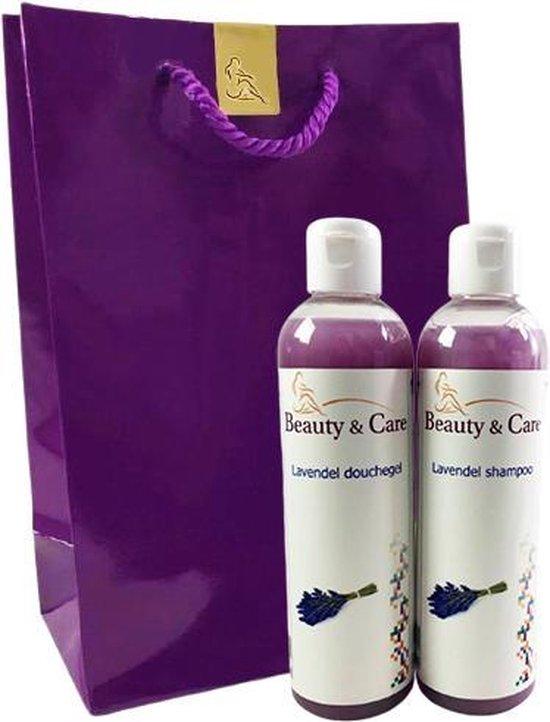 Beauty & Care - Douchepakket Lavendel - Douchegel en Shampoo 250 ml
