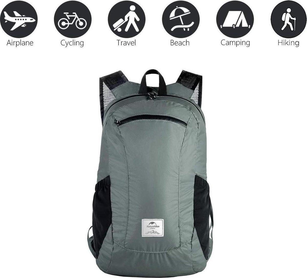 Opvouwbare Backpack / Daypack - Water Bestendig - Outdoor - Lichtgewicht - 18 Liter - Grijs