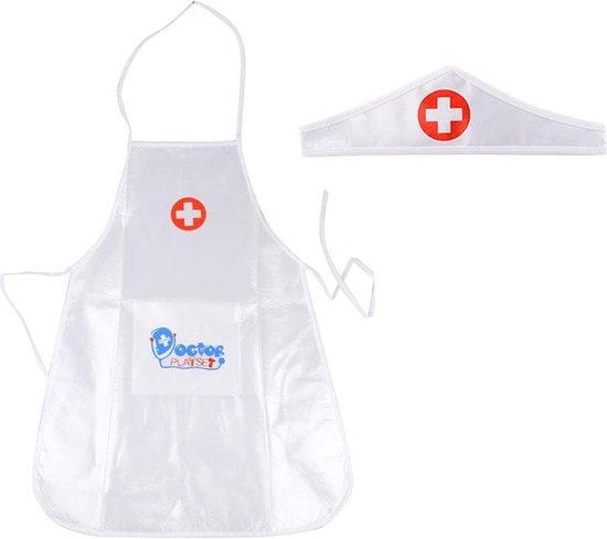 Thumbnail van een extra afbeelding van het spel 1 set kinderkleding rollenspel kostuum dokter overall verpleegster uniform- educatief speelgoed voor kinderen cadeau (wit) - [As Seen on Image]