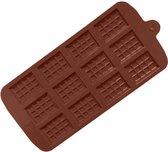 Mini Chocoladereep Mold - Chocolate Mold Tablette - Siliconen Chocoladevorm - 12 stuks - Bakvorm - Chocoladereep Silicoon