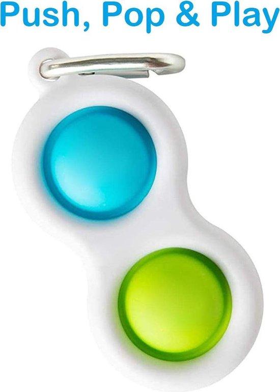 Simple Dimple - Fidget Toys - Sleutelhanger - Blauw - Groen