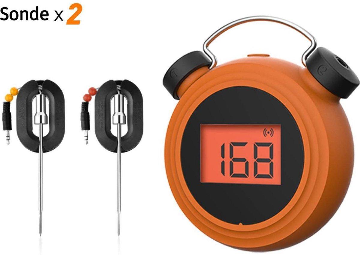 Digitale BBQ Vleesthermometer - Thermometer voor Koken - Bluetooth - Draadloos - Met App - 2 Stuks - Incl. Batterijen