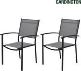 Gardington Tuinstoelen - Tuinset - Aluminium Campingstoelen - Stapelbaar - Set van 2