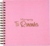 Plakboek - dagboek - fotoalbum - fotoboek - boeken - invulboek volwassenen - scrapbook album - cadeau
