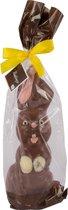 Chocolade Paashaas XL Geschenk 40 cm Hoog x 12 clm breed 500 gram van Bonbiance