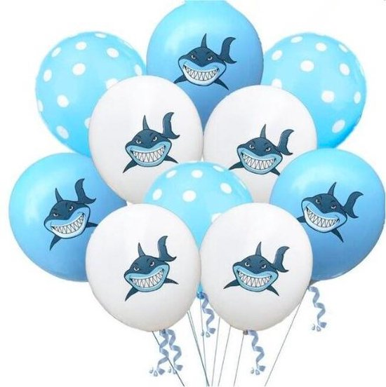 ProductGoods - 10x BabyShark Ballonnen Verjaardag - Verjaardag Kinderen - Ballonnen - Ballonnen Verjaardag - Baby Shark - Kinderfeestje