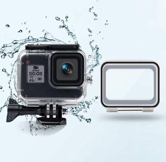 45 m waterdichte hoes + touch-achterkant voor GoPro HERO8 zwart
