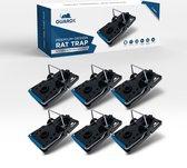 GuardX® 6x Kunststof Rattenval - Killbar design - XXL Muizenvallen Set - Ongediertebestrijding - Rattenklem voor binnen en buiten