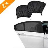 Mondio Zonnescherm Auto - Zonnescherm Auto Zijruit - UV Protectie - Bescherming tegen Zon  - 2 Stuks - Bescherm uw Kinderen en Dieren